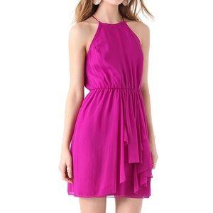 Rebecca taylor pink silk halter feeling good dress